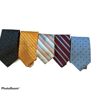 5 100% Silk Pattern Ties Ted Baker Brooks Brothers